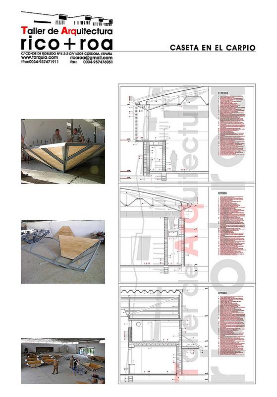 Caseta Municipal de El Carpio_Detalles constructivos